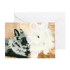 Lionheads Lola and Vito Greeting Card