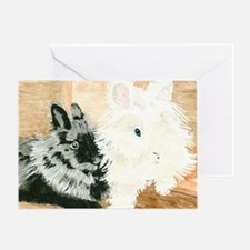 Lionheads Lola and Vito Greeting Card