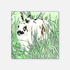 """White Chocolate Moustache B Square Sticker 3"""" x 3"""""""