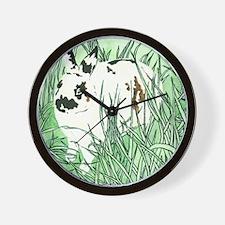 White Chocolate Moustache Bunny Wall Clock
