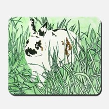 White Chocolate Moustache Bunny Mousepad