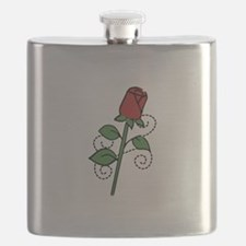 Valentine Rose Flask