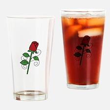 Valentine Rose Drinking Glass