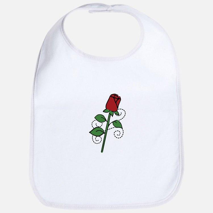 Valentine Rose Bib