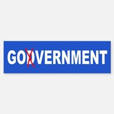 GOdVERNMENT Bumper Bumper Bumper Sticker