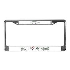 Hybrid Car License Plate Frame