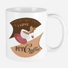 I Love My Coffee Retro Mug