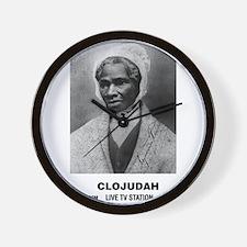 CLOJudah Sojourner Truth B/W Wall Clock