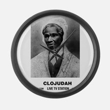 CLOJudah Sojourner Truth B/W Large Wall Clock
