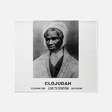 CLOJudah Sojourner Truth B/W Throw Blanket
