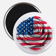 American Rose Flag on White Magnets