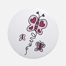 Butterfly Ornament (Round)