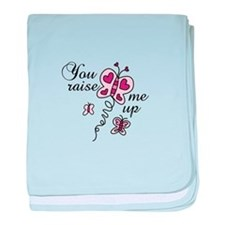 You Raise Me Up baby blanket