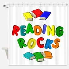 READING ROCKS Shower Curtain