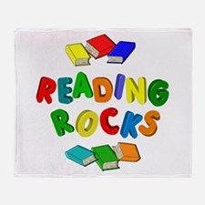 READING ROCKS Throw Blanket