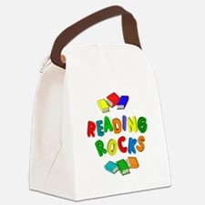 READING ROCKS Canvas Lunch Bag
