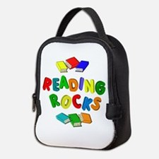 READING ROCKS Neoprene Lunch Bag