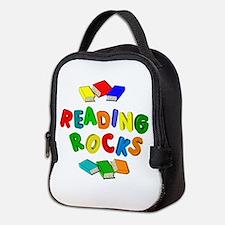 READING ROCKS Neoprene Lunch Bag