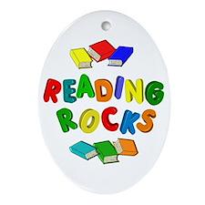 READING ROCKS Ornament (Oval)