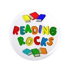 """READING ROCKS 3.5"""" Button (100 pack)"""