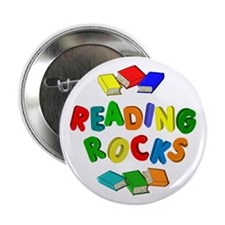 "READING ROCKS 2.25"" Button"