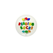 READING ROCKS Mini Button (10 pack)