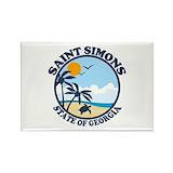 St simons island georgia Magnets