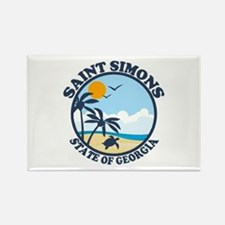 Cute St simons island Rectangle Magnet