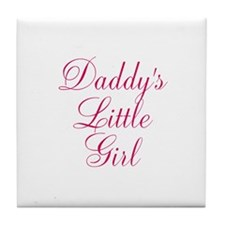 Daddys Little Girl in Pink 3 Tile Coaster
