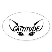 Cattitude-Eyes-Black Decal