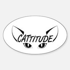Cattitude-Eyes-Black Decal