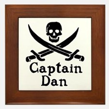Captain Dan Framed Tile