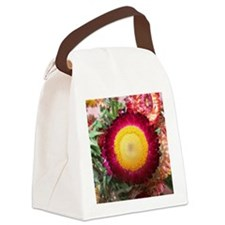 Pink and Yellow Flower Canvas Lunch Bag