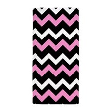 Pink Chevron Beach Towel