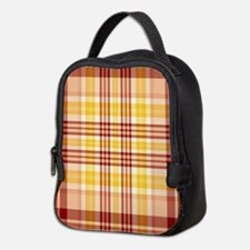 Bacon and Egg Plaid Neoprene Lunch Bag