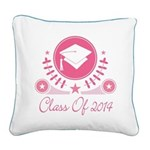 Class of 2014 graduate Square Canvas Pillow