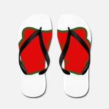Santa Baby Red and Green Flip Flops