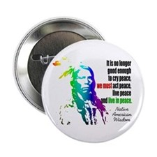 "Live In Peace 2.25"" Button"