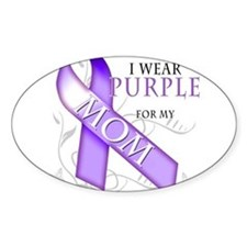 I Wear Purple for my Mom Decal