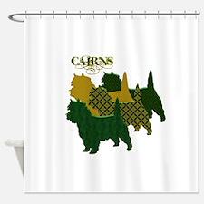 Cairn Terrier Silhouttes Shower Curtain