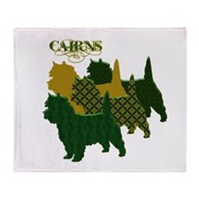 Cairn Terrier Silhouttes Throw Blanket