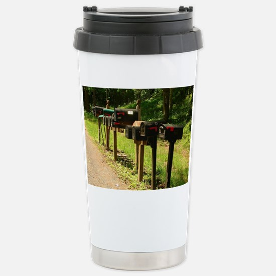 We Live Up the Road Stainless Steel Travel Mug