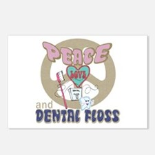 Peace Love and Dental Floss Postcards (Package of