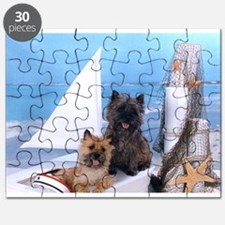 Cairn Terrier Boat Boys Puzzle