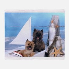 Cairn Terrier Boat Boys Throw Blanket