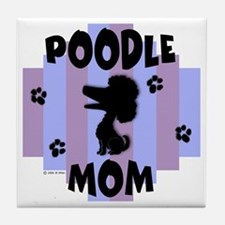 Poodle Mom Tile Coaster