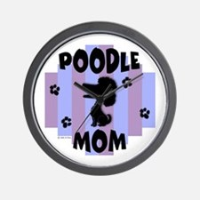 Poodle Mom Wall Clock