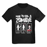 How to kill a zombie Kids T-shirts (Dark)