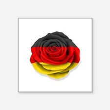 German Rose Flag on White Sticker
