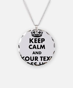 keep calm gifts Necklace